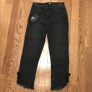 BRAND NEW Paige Horton Straight Ankle Grey Jean